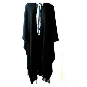 Maggie Barnes oversize scarf wrap poncho kimono